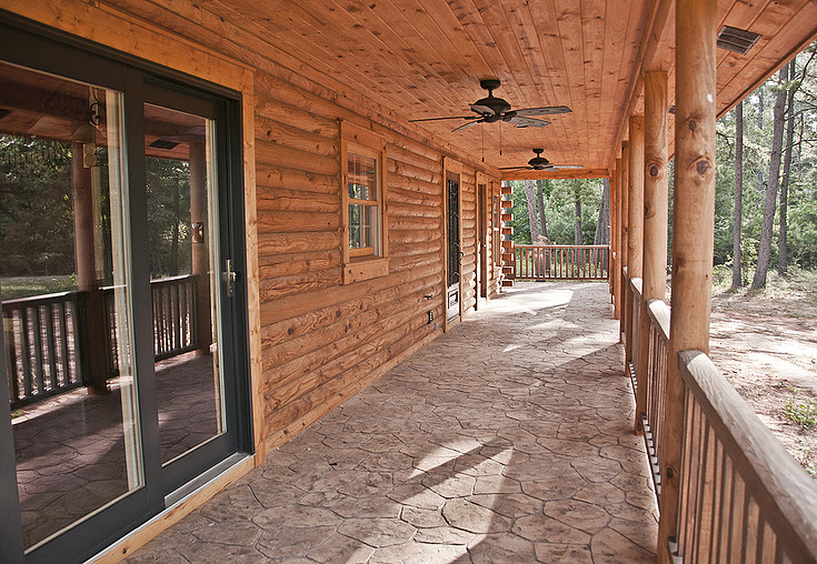 Log Home and log cabin Gallery Stamped Log Home Porch Designs Html on